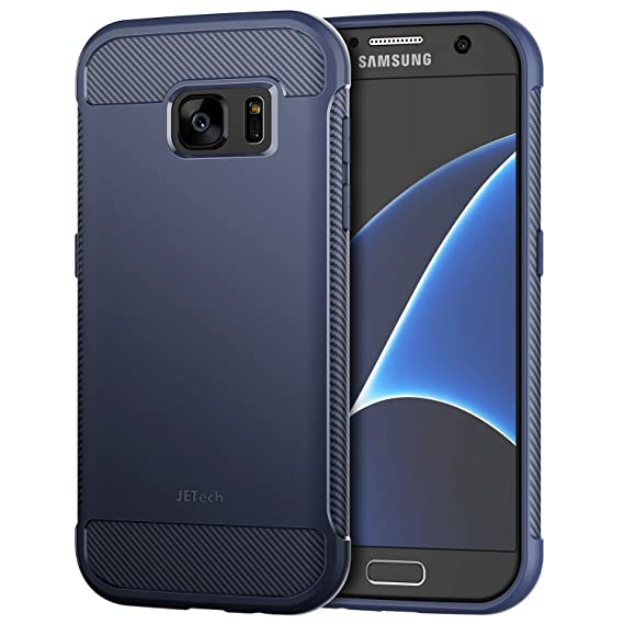 1b627287c194 Image Unavailable. Image not available for. Color  JETech Case for Samsung  Galaxy S7 Protective Cover with Shock-Absorption and Carbon Fiber Design