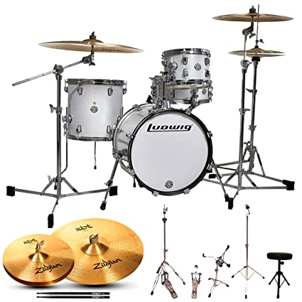 Amazon Com Ludwig Breakbeats By Questlove 4 Piece Starter Drum Set