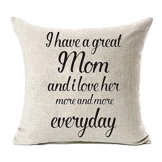 Día de la madre (lino y algodón casa decorativa fundas de ...