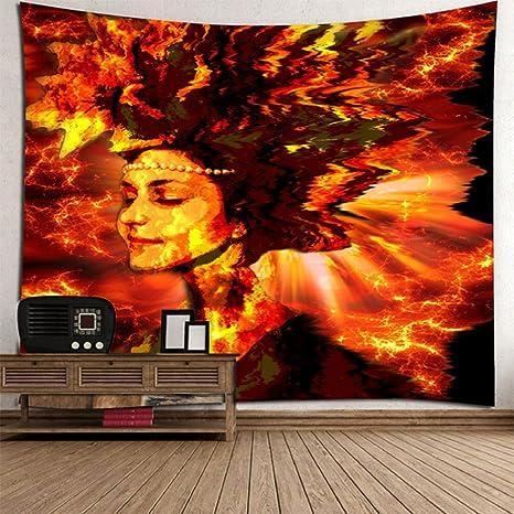 L&LQ 2 Unids 3D Colgante Tapiz De Pared Hippie Retro Home Decor Yoga Toalla De Playa