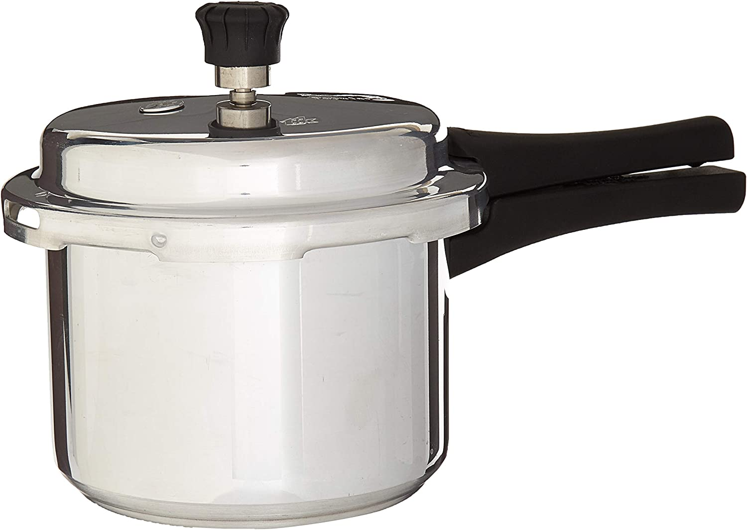 Prestige Popular Plus Induction Base Aluminum Pressure Cooker, 3 Litres, Silver