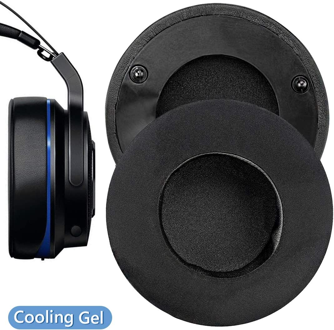 Geekria Sport Cooling Gel-Infused Earpad for Razer Thresher Ultimate, Thresher 7.1, Thresher Tournament Edition Ear Pad/Ear Cushion/Ear Cups/Ear Cover/Headphone Earpads Repair Parts (Black)