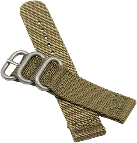 Bretelles kakis de Montre de Style Militaire de l'NATO en Nylon Durable 20 24mm Bandes Remplacements pour Les Hommes
