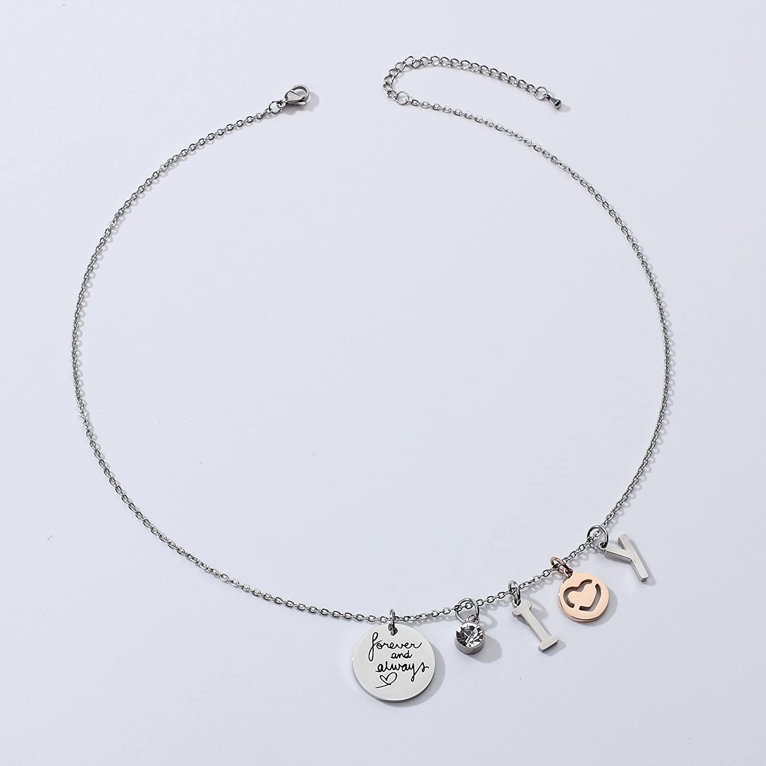 LIUANAN I Love You Forever Always Necklace for Women Teen Girls