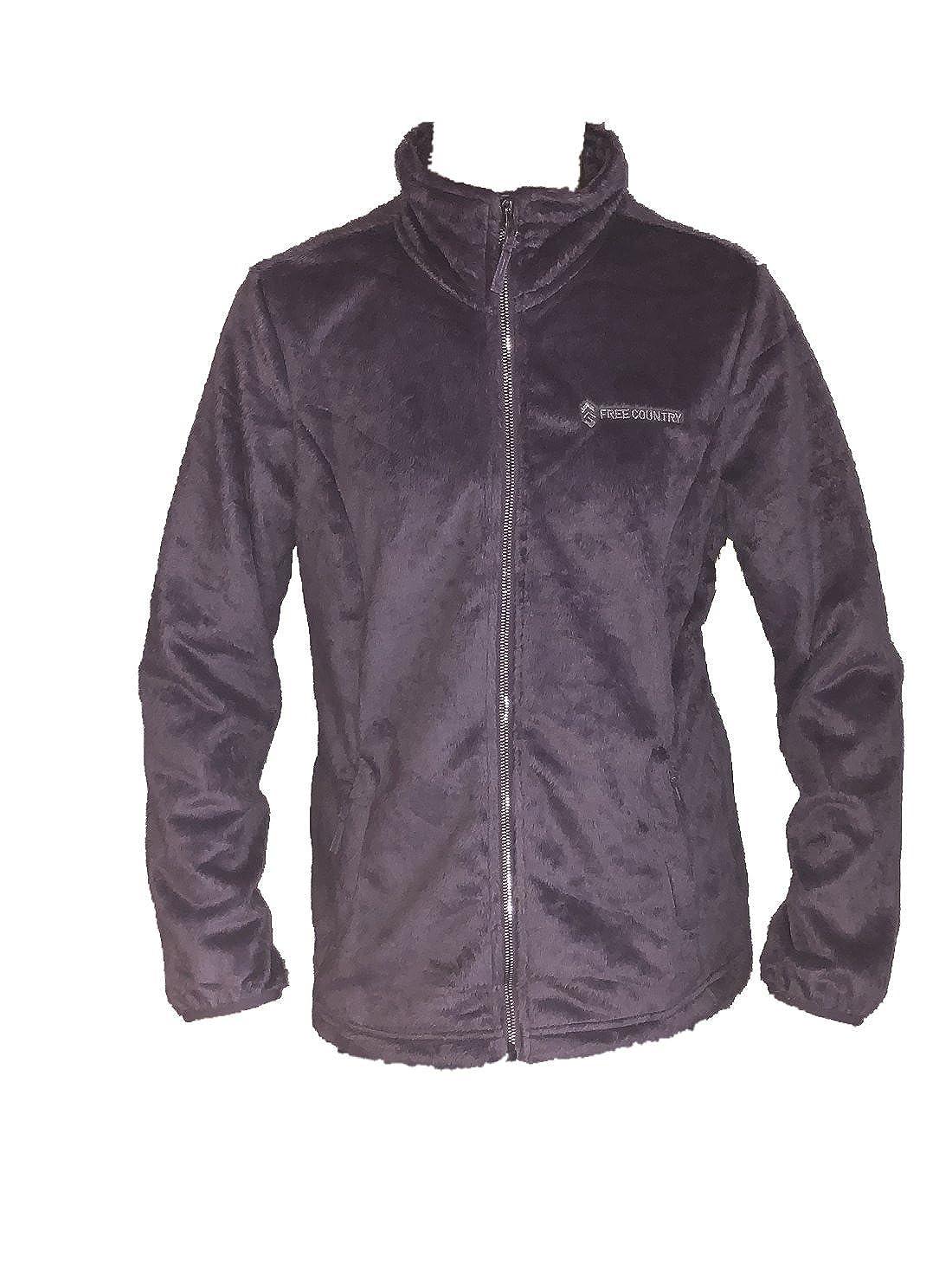 b2fdbec477ac Free Country Women s Butter Pile Fleece Full Zip Jacket (Medium ...