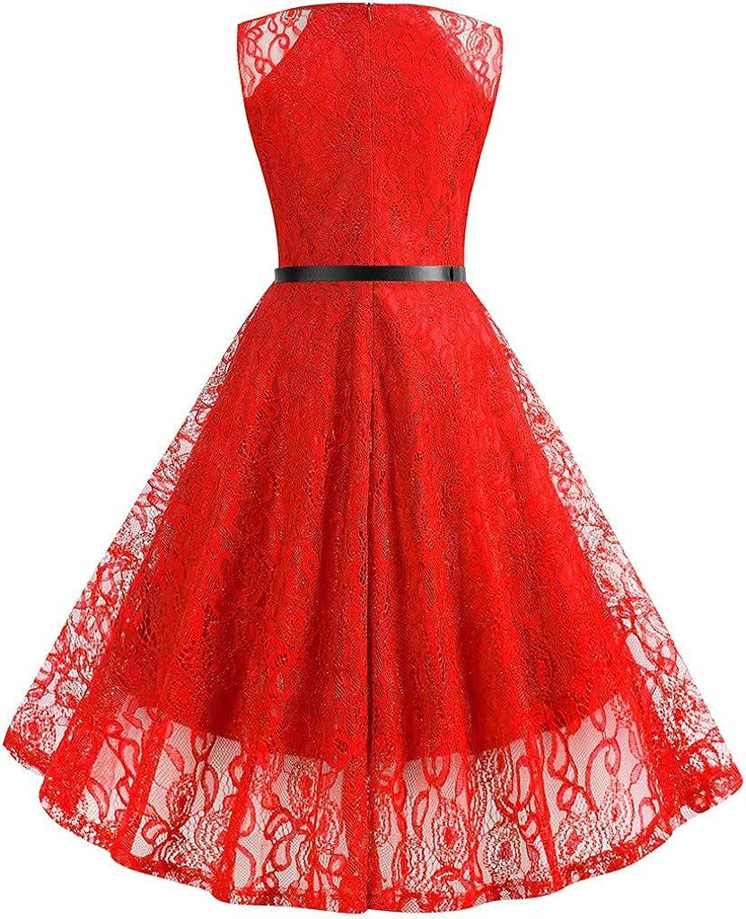 Vimoli Kleider Damen Kleid Abendkleid Elegant 50er Jahre Kleider Cocktailkleid /Ärmellos Partykleid Rockabilly Kleid