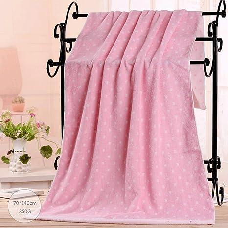 ZLR Toalla de baño bordada algodón puro suave del algodón de la toalla grande absorbente del