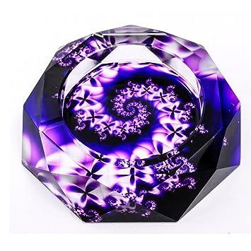 Aschenbecher Lila Rotation Muster Mode Ideen Kristall Glas Trend  Persönlichkeit Wohnzimmer Farbe Druck Abschnitt Rollsnownow (