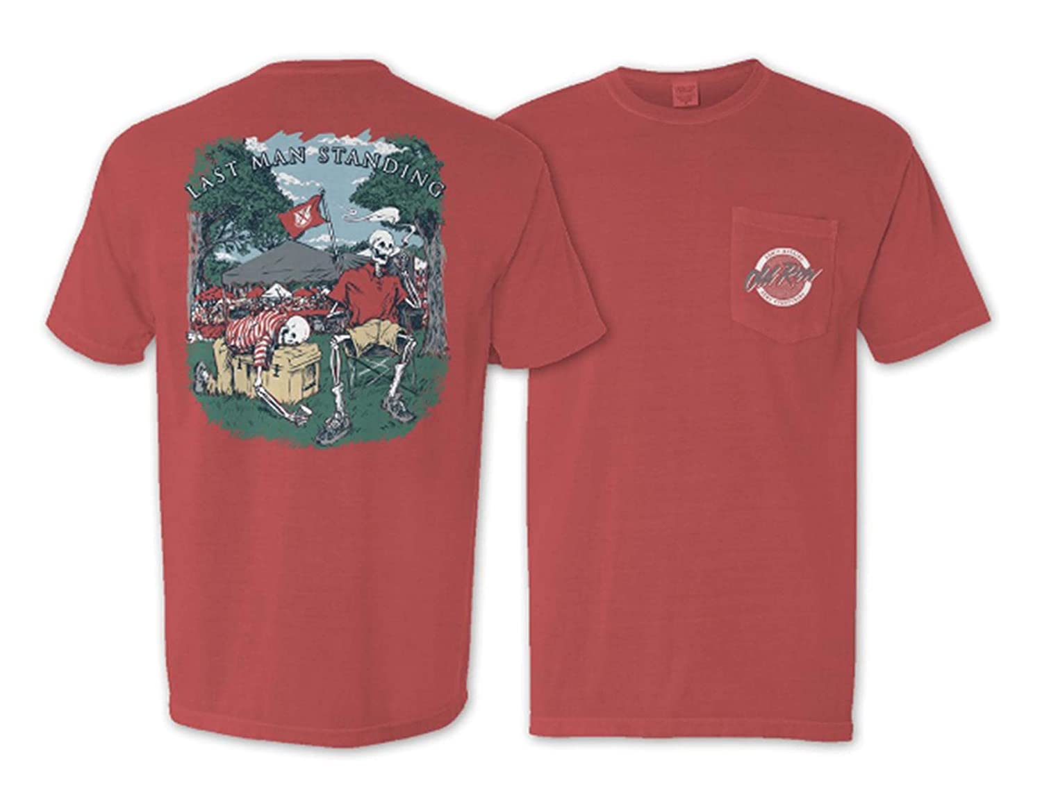 555f1be0 Old Row Tshirt Curtsy. Amazon Com Old Row Last Man Standing Tailgate  Comfort Colors Pocket
