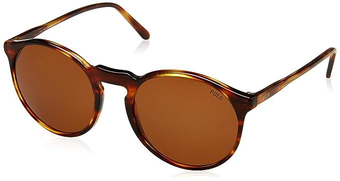 Ralph Lauren POLO 0PH4129 Gafas de sol, Striped Havana, 53 para ...