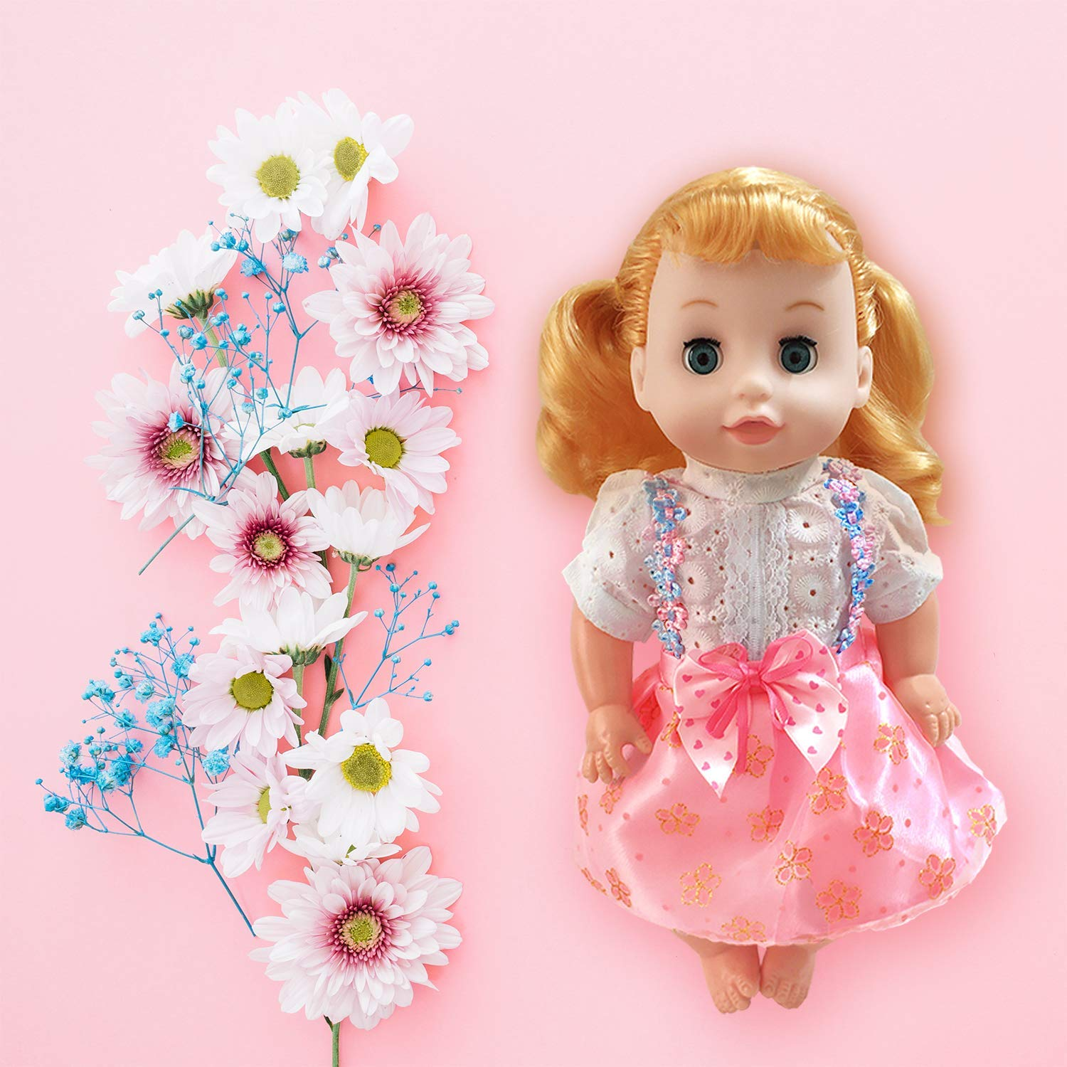 ARTST Doll Clothes,12 inch Baby Doll Clothes 6 Sets Include 5 Caps for 10 inch Dolls /11 inch Baby Dolls/ 12 inch Baby Dolls/14 inch American Girl WellieWishers Willa Doll