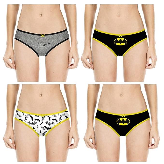 Justice League Pack de 4 Braguitas de Algodón para Niñas Batman Superman Wonder Woman (8