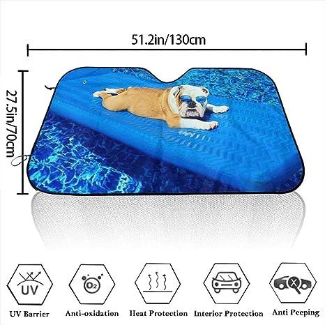 YJWLO Parasole pieghevole per auto con bulldog inglese per raggi UV 51 x 27,5 cm