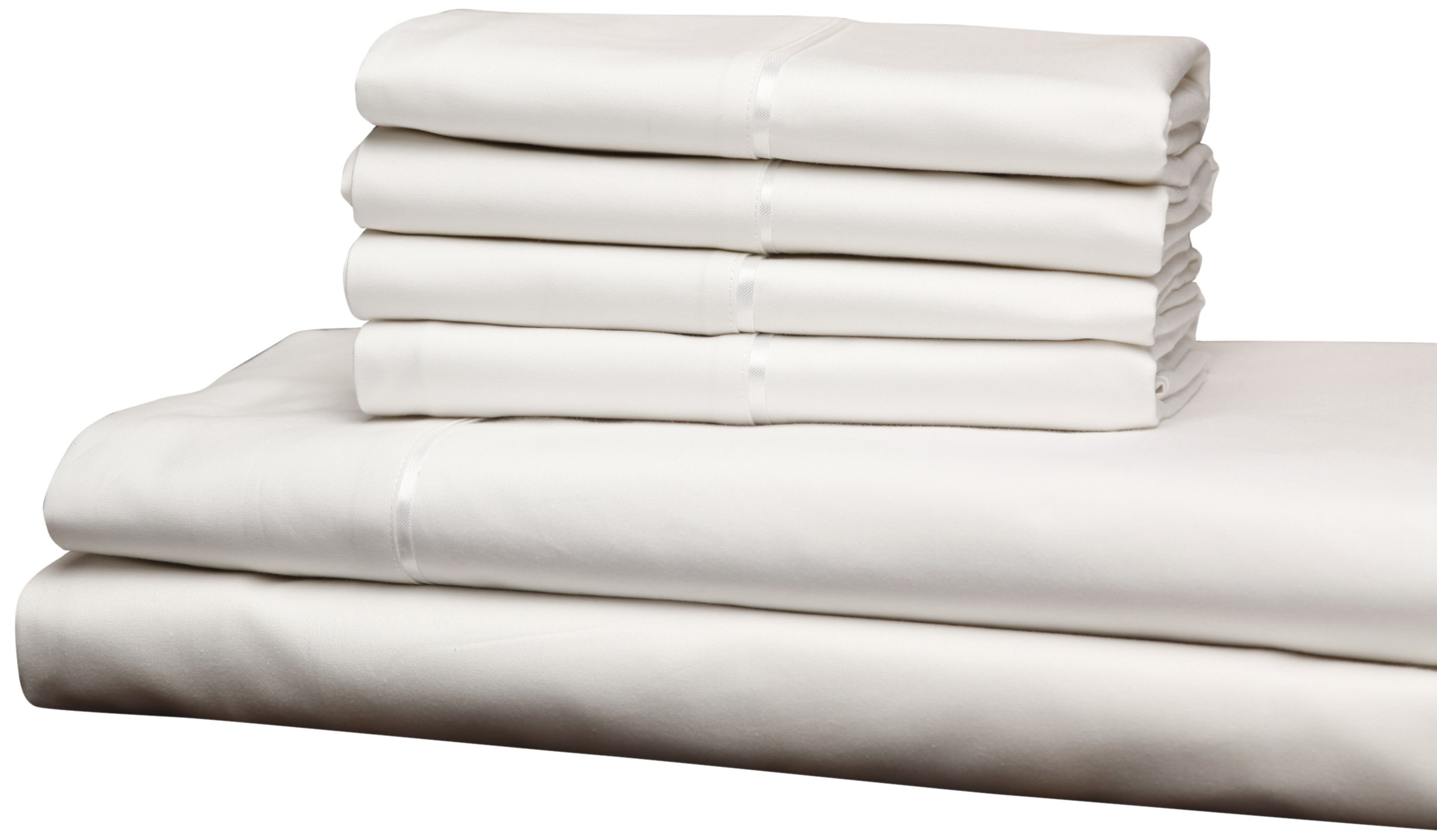 Fashion Bed Group QH0432 White 4-Piece T750 Home Collection Bed Sheet Set with 750-Thread Count Fabric, Split King
