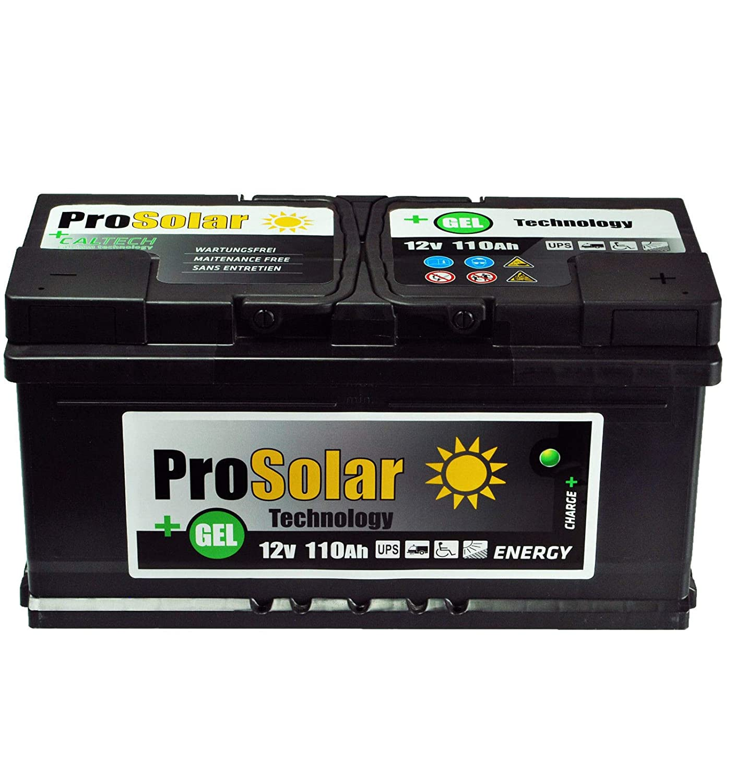 Batterie gel solaire GEL 110 Ah 12 V ProSolar Gel d'entretien au lieu de 150 Ah 150 Ah 120 Ah 100 Ah Hermes