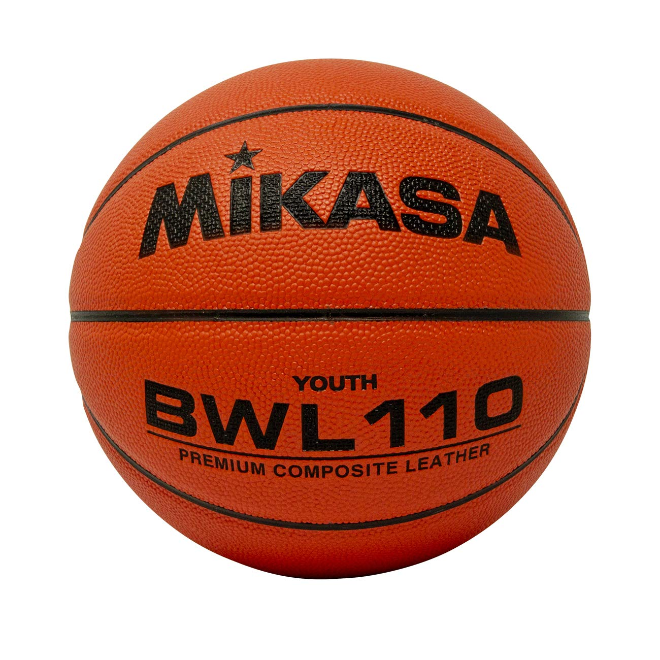 Mikasa Composite Competition Basketball (Junior Size 5, 27'')