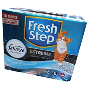 FRESH STEP CAT LITTER 261347 Fresh Step Extreme Odor Solution Scoop Litter Boxes for Cats
