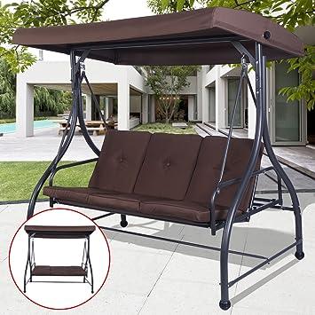 Amazon Com Converting Outdoor Swing Canopy Hammock 3 Seats Patio