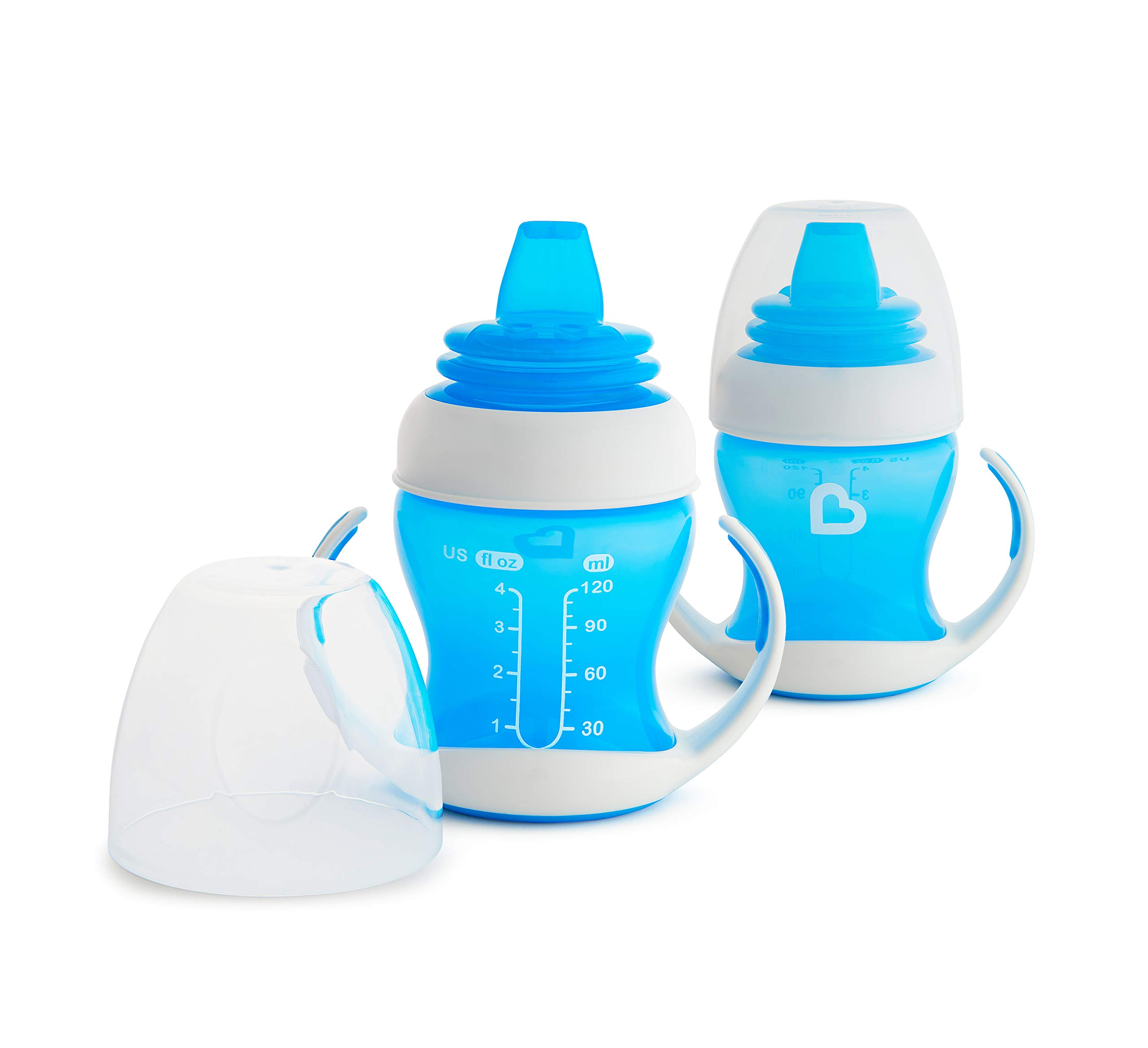 Munchkin 2 Piece Gentle Transition Trainer Cup, 4 Ounce, Blue by Munchkin
