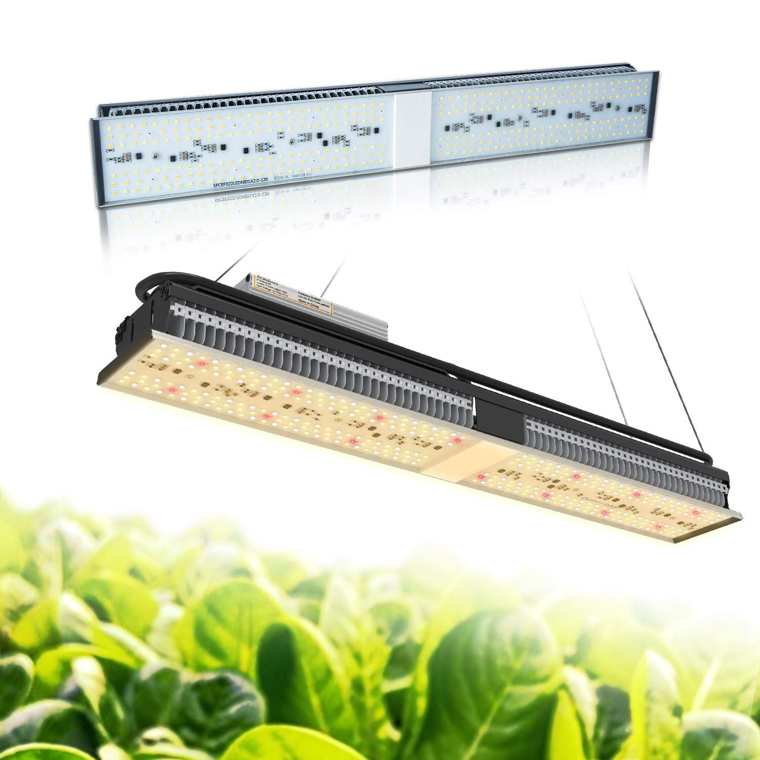 MARS HYDRO SP 150 Led Grow Light Sunlike Full Spectrum Grow Lamps for Indoor Plants Veg and Flower Bloom Hydroponic LED Growing Lights Fixtures for Greenhouse 2ft Four for 4x4 Coverage by MARS HYDRO