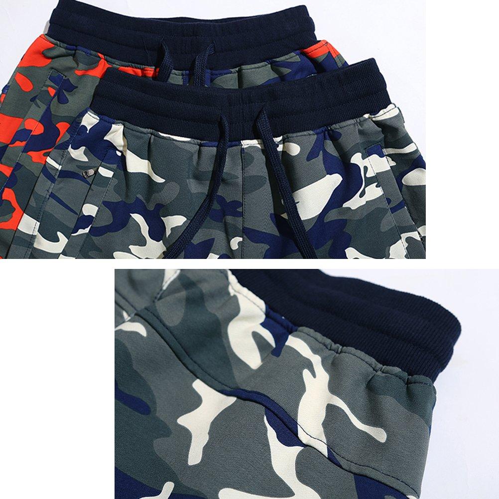 Zhuhaitf Men Jogger Sport Bike Badminton Tennis Athletic Camouflage Pants Elastic Waist Trousers
