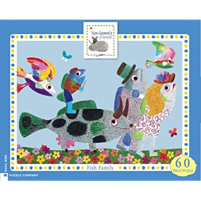 New York Puzzle Company - Leo Lionni Fish Family - 60 Piece Jigsaw Puzzle: Toys & Games