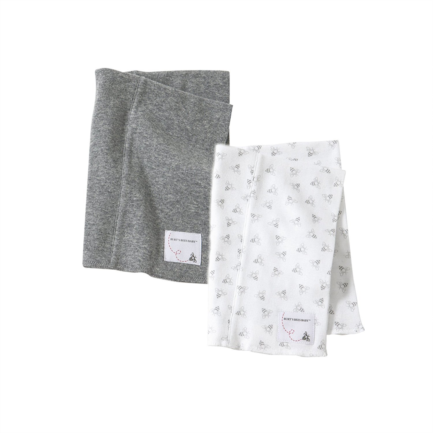 Burt's Bees Baby Baby Set Of 2 Organic Burp Cloths, Heather Grey, One Size Burt' s Bees Children' s Apparel LY11425-HTG-OS-B