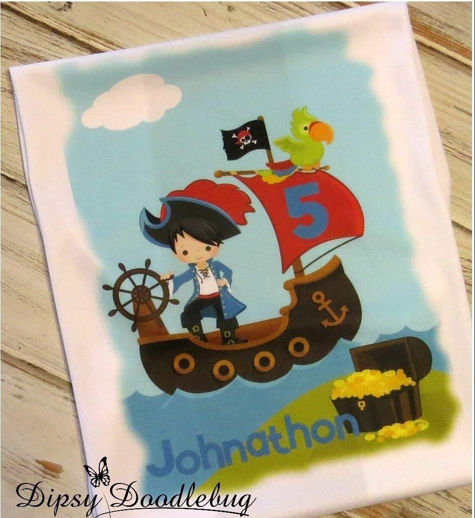 Boys Personalized Pirate Birthday Shirt