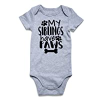 Baby Boys Girls Romper Infant Funny Bodysuit Outfit 0-18 Months