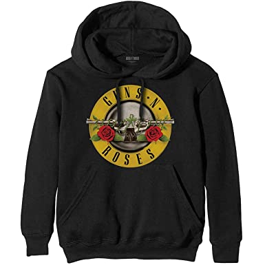 Guns n Roses Slash Axl Rose Oficial Sudaderas Capucha Hombre (Small)