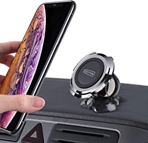 TORRAS Brave Magnetic Car Holder, [Triangle Foot] Cell Phone Mount Cradle for Car Dashboard Compatible with iPhone 11 Pro Max/Xs/XR / 8 Plus, Samsung Galaxy S20+ / S10+ / S9 / Note 10 and More
