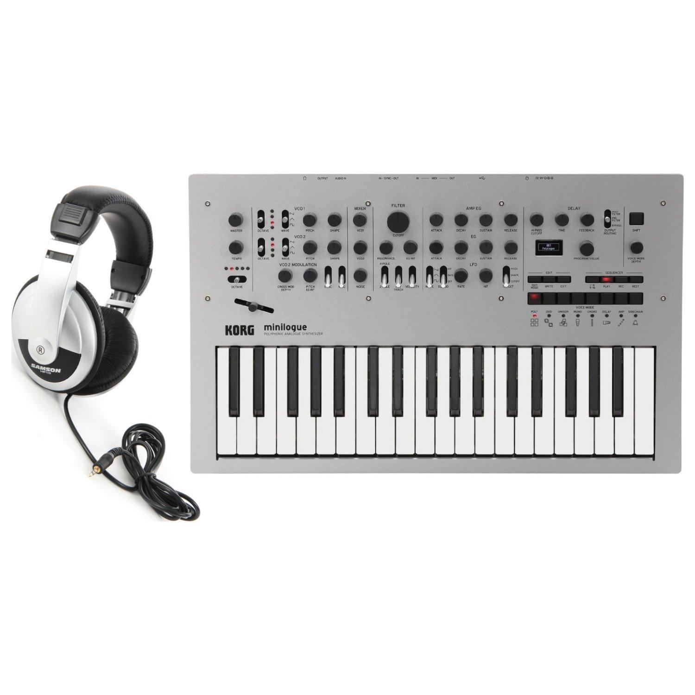 Korg Minilogue Polyphonic Analog Synth w/ Headphones by Korg