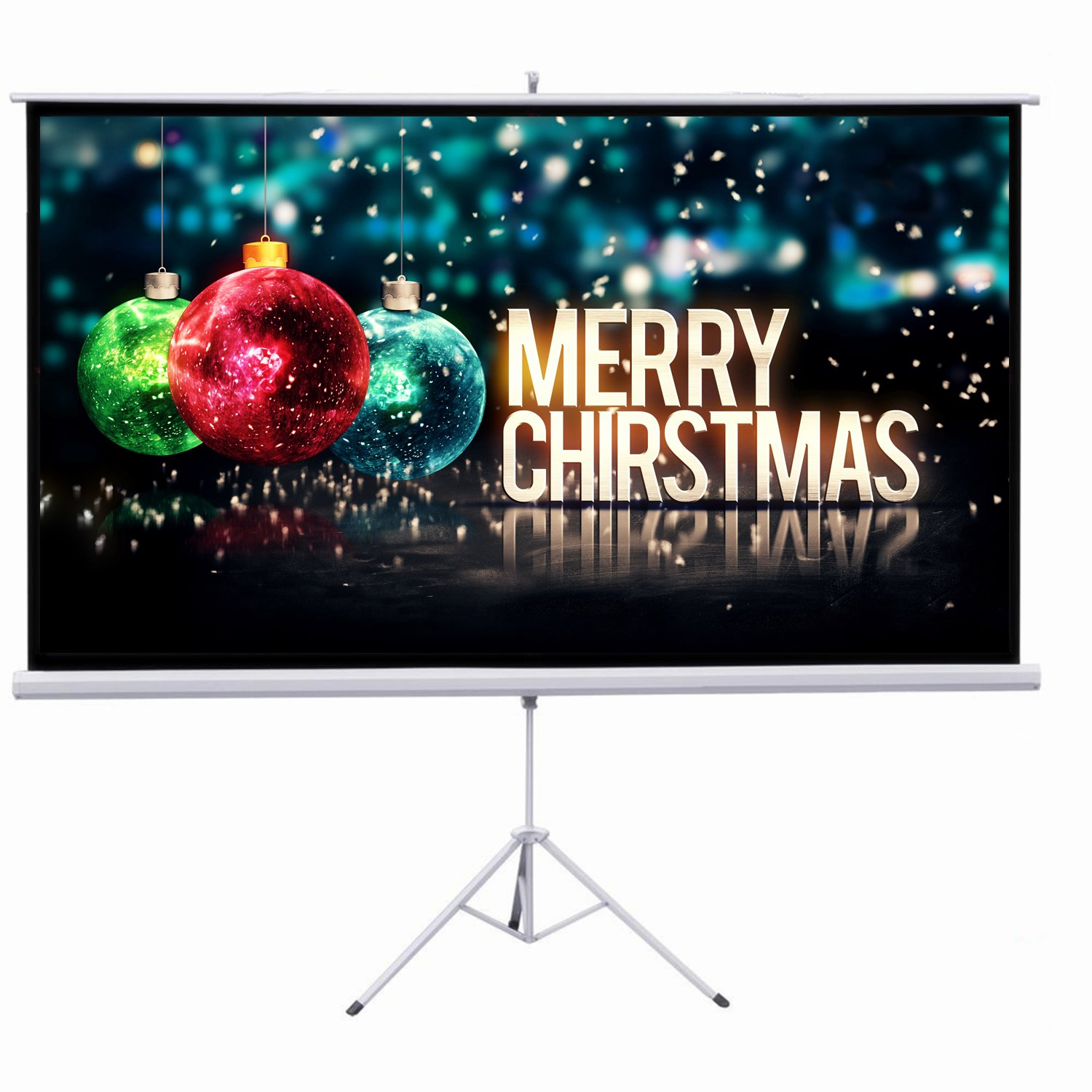 """Amazon.com : Projector Screen, Auledio Portable 100"""" Diagonal 16:9 HD Manual  Pull Down Video Projection Screens with Tripod Stand - Suitable for HDTV ..."""