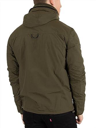 giacca a vento con cappuccio ds superdry