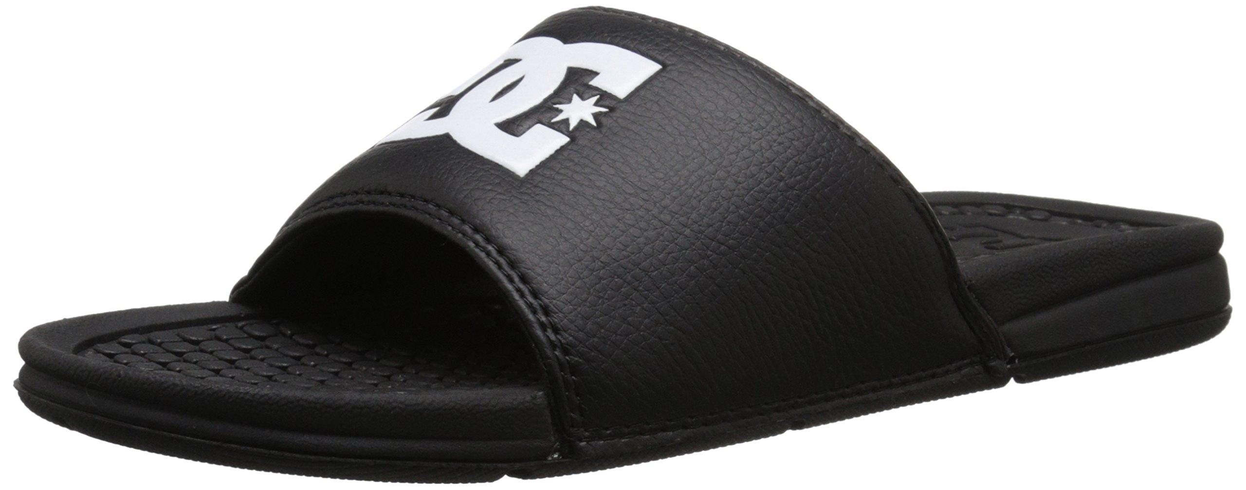 DC Men's Bolsa Slide Sandal, Black, 12 M US