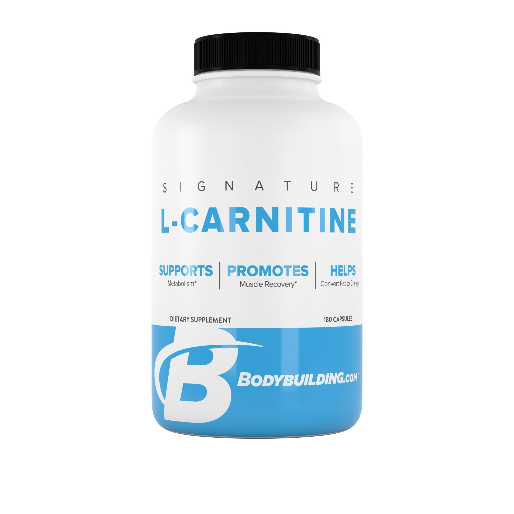 BodyBuilding.Com Signature L-Carnitine Capsules | CARNIPURE Amino Acid | Support Metabolism, Helps Convert Fat to Energy | 180 Servings