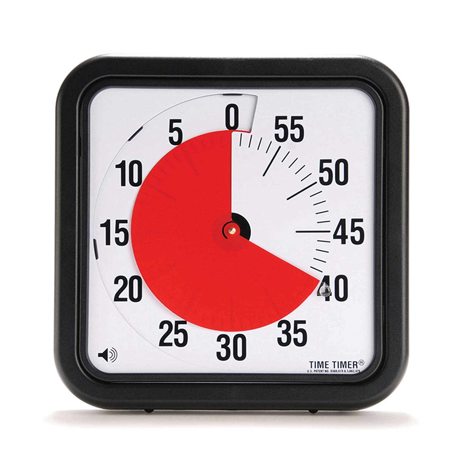 Time Timer Audible Countdown Timer - 8 inch - Black TTA1-W