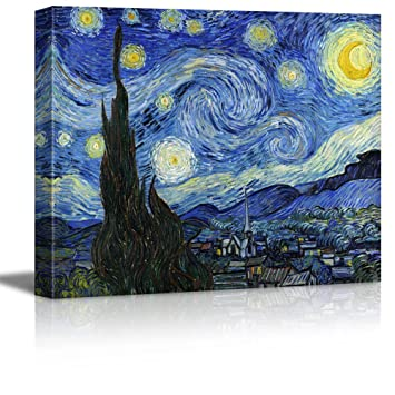 Wall26 Starry Night By Vincent Van Gogh Canvas Wall Art Modern Home Decor Bedroom And