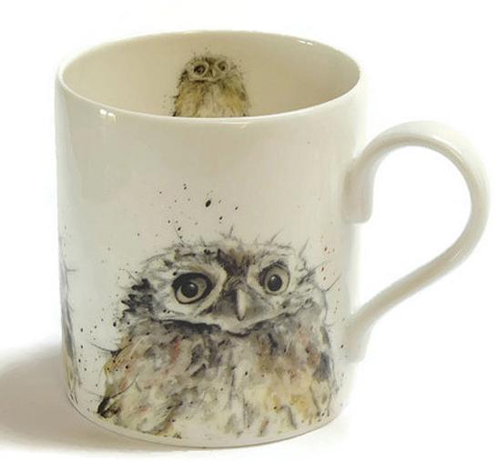 Owl Mug Fine Bone China Bird Lovers Gift Country by SarahBoddyUK