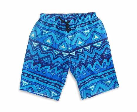 67b1efec74 Bliss Brands Athletic Mens Nylon Tribal Design Sport Swim Trunks (Large)