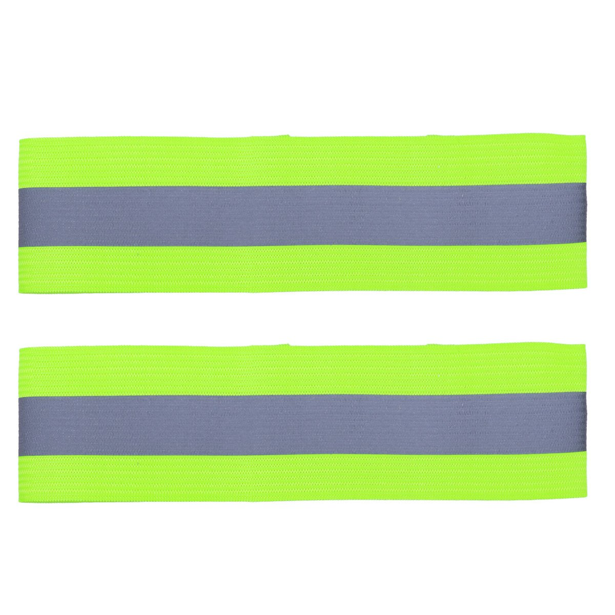 Freebily High Visibility Reflective Wristbands, Reflective Ankle Bands, Safety Reflector Belt Straps for Jogging, Walking, Cycling Type A Green 2pcs