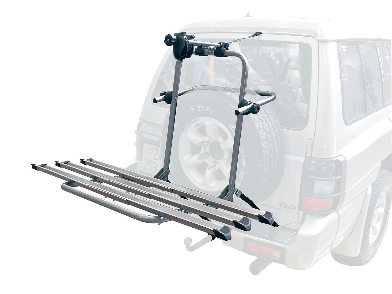 MENABO Boa 3 Fahrradtr/äger f/ür 3 Fahrr/äder f/ür 4x4 SUV Gel/ändewagen mit Ersatzrad