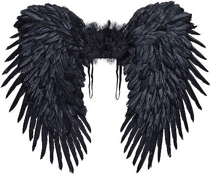 Alas de ángel XXL adecuadas para Disfraz de ángel Negro / Negro ...