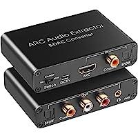 Extractor de audio HDMI ARC 192 KHz convertidor DAC Extractor de audio ARC Soporte Digital HDMI a Audio estéreo…