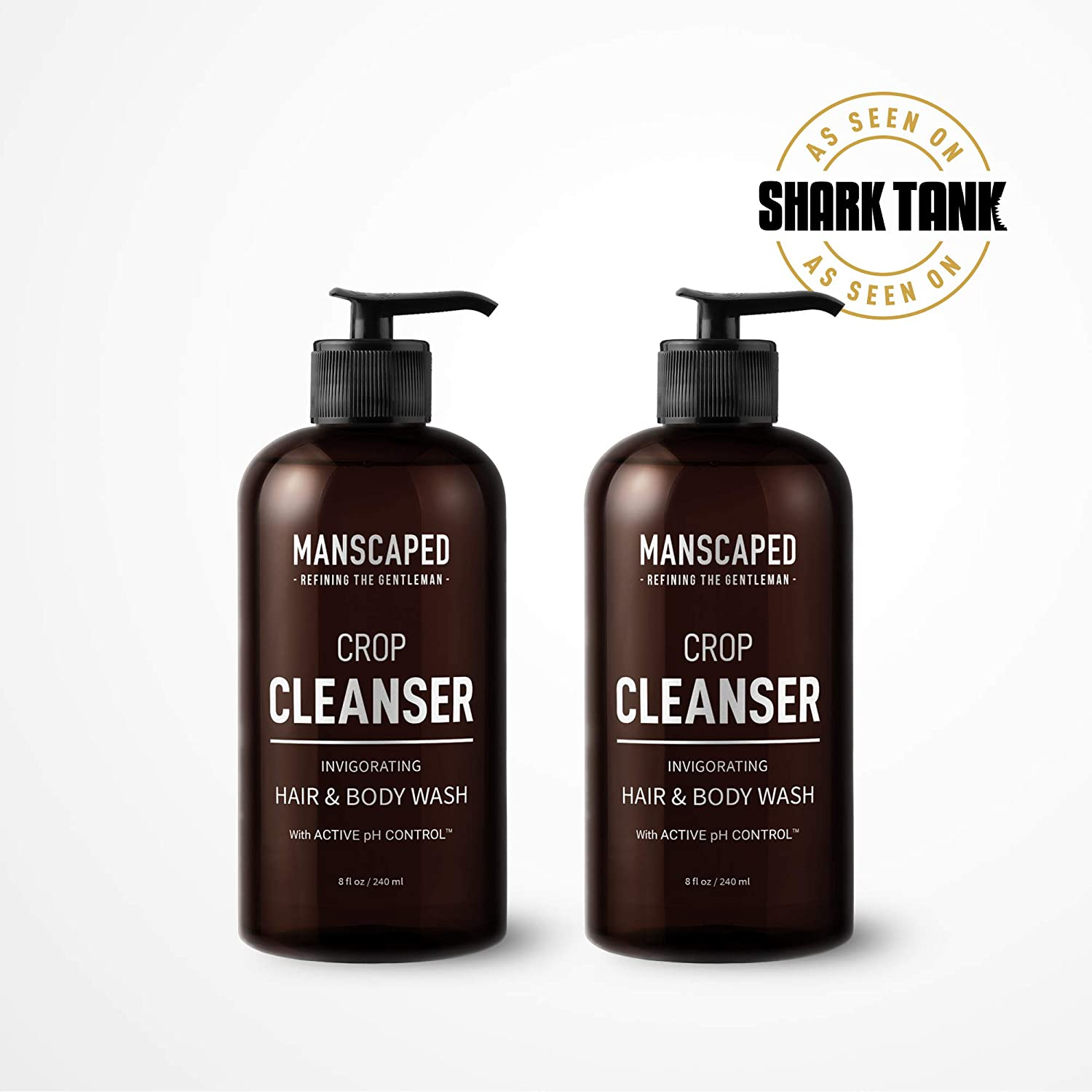 Manscaped Men's All-In-One Ball and Body Wash (2 Pack), Shower Gel For Men, The Crop Cleanser with Odor Protection and Active pH Control, Male Care, Hygiene Wash