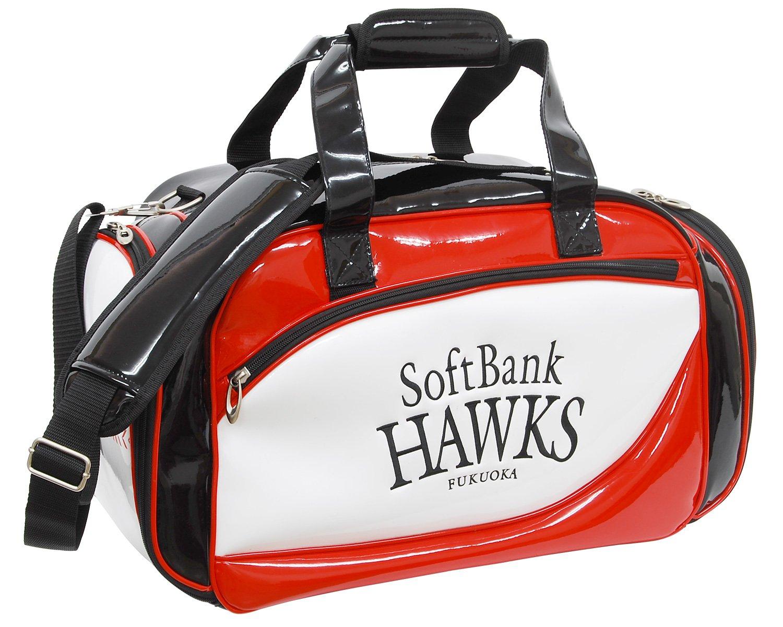 LEZAX(レザックス) ボストンバッグ 福岡ソフトバンクホークス ボストンバッグ 鷹の祭典2017年モデル SBBB-7263 ホワイト×ブラック×レッド   B074N7WZY7