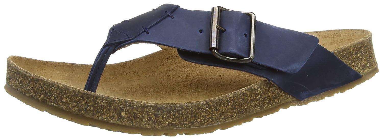 HaflingerBio Rio - Sandalias de Dedo Unisex Adulto 45 EU|Azul - Blau (Blau 777)