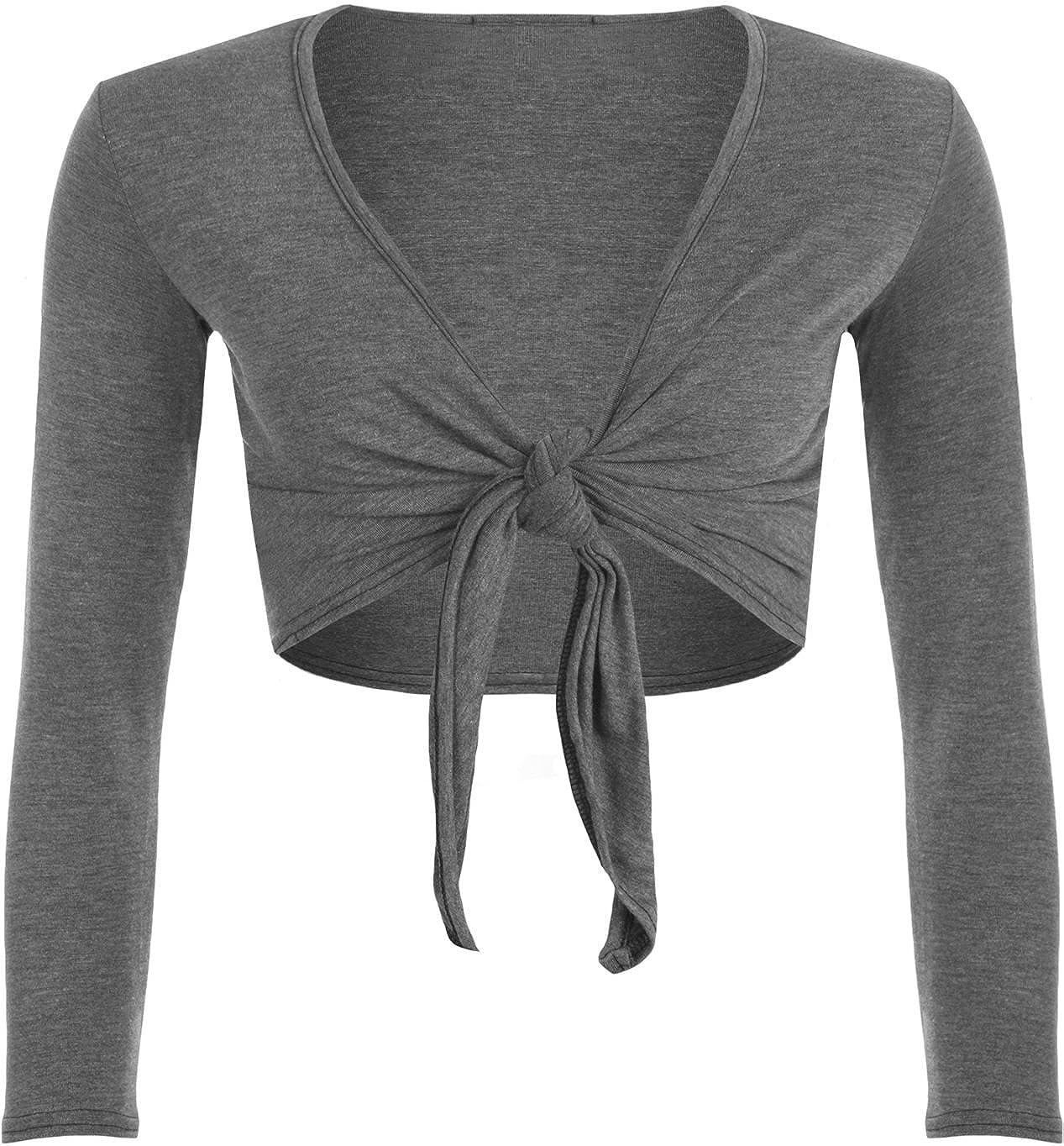 WearAll - alzata vincolerebbero easybiz donna a maniche lunghe Top - 7 colori - dimensioni 36-42 21132