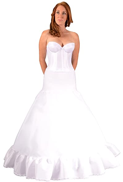 Bridal Petticoat Crinoline Slip For Fit To Flare Wedding Dress Ball Gown,  Made In USA