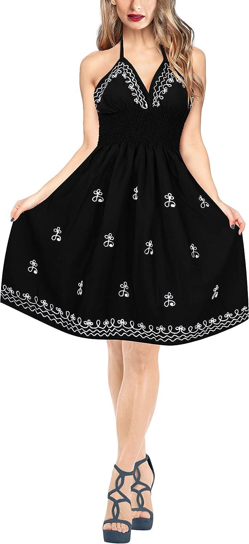 bc8236fabf LA LEELA Women's One Size Summer Beach Dress Tube Dress at Amazon Women's  Clothing store: